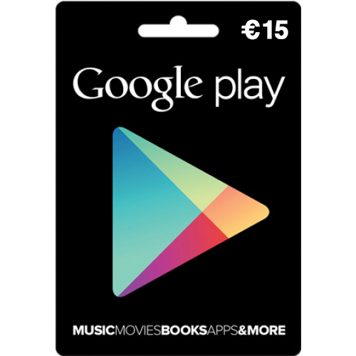 google play card 15 euro kaufen. Black Bedroom Furniture Sets. Home Design Ideas